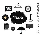 learn the primary colors. black....   Shutterstock .eps vector #1232870089