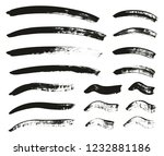 calligraphy paint brush curved... | Shutterstock .eps vector #1232881186