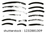 calligraphy paint brush curved... | Shutterstock .eps vector #1232881309
