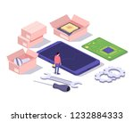 mobile repair and service... | Shutterstock .eps vector #1232884333