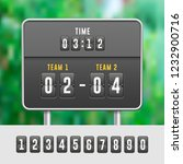 mechanical flip countdown clock ... | Shutterstock .eps vector #1232900716