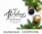holidays greeting card for... | Shutterstock .eps vector #1232901346