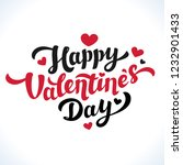 happy valentines day lettering. ... | Shutterstock . vector #1232901433