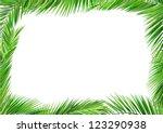 coconut leaves frame | Shutterstock .eps vector #123290938