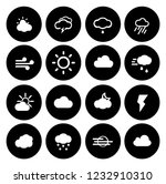 weather overcast icons set  ... | Shutterstock .eps vector #1232910310