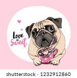 card of a valentine's day.... | Shutterstock .eps vector #1232912860