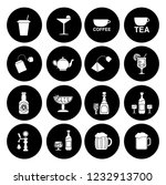 drink icons set   vector glass... | Shutterstock .eps vector #1232913700