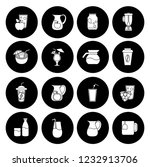 drink icons set   vector glass... | Shutterstock .eps vector #1232913706