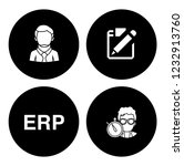 people management icons set  ... | Shutterstock .eps vector #1232913760