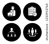 people management icons set  ... | Shutterstock .eps vector #1232913763