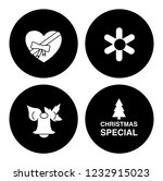 christmas holiday icons set  ... | Shutterstock .eps vector #1232915023