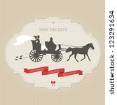 funny wedding invitation with... | Shutterstock .eps vector #123291634