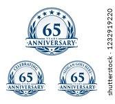 65 years anniversary set. 65th... | Shutterstock .eps vector #1232919220