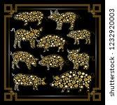 illustration of earth pigs ... | Shutterstock . vector #1232920003