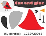 bullfinch cartoon style ... | Shutterstock .eps vector #1232920063