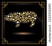 illustration of earth pig ... | Shutterstock . vector #1232920390