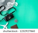 top view travel concept with... | Shutterstock . vector #1232927860