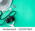 top view travel concept with... | Shutterstock . vector #1232927863