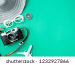 top view travel concept with... | Shutterstock . vector #1232927866