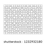 300 white puzzles pieces... | Shutterstock . vector #1232932180