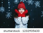 a portrait of a pretty young... | Shutterstock . vector #1232935633
