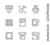 set line icons of atm | Shutterstock .eps vector #1232941036