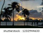 sunset in miami beach september ... | Shutterstock . vector #1232944633