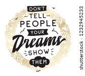 inspirational quote  motivation....   Shutterstock .eps vector #1232945233