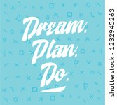 inspirational quote  motivation.... | Shutterstock .eps vector #1232945263