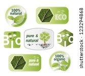 set of bio  eco  organic... | Shutterstock .eps vector #123294868