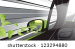 ecology car with a lot of... | Shutterstock .eps vector #123294880