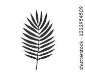 vector leave. silhouette | Shutterstock .eps vector #1232954509