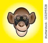 vector illustration of monkey... | Shutterstock .eps vector #123295528