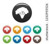 broccoli icon. simple... | Shutterstock .eps vector #1232955526