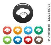 fresh broccoli icon. simple... | Shutterstock .eps vector #1232955739
