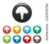 salad broccoli icon. simple... | Shutterstock .eps vector #1232955766