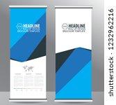 roll up business brochure flyer ... | Shutterstock .eps vector #1232962216