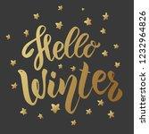 hello winter. lettering phrase...   Shutterstock .eps vector #1232964826