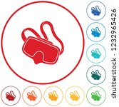 diving mask icon isolated.... | Shutterstock .eps vector #1232965426