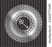 key icon inside silver emblem | Shutterstock .eps vector #1232977189