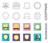 bitmap illustration of emblem... | Shutterstock . vector #1232979640