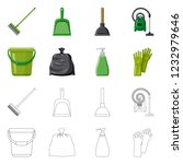 bitmap design of cleaning and... | Shutterstock . vector #1232979646