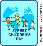 street children's day | Shutterstock .eps vector #1232984653