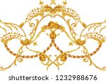 rococo intricate border with... | Shutterstock . vector #1232988676