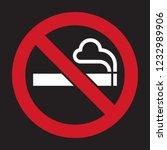 no smoking sign. smoking... | Shutterstock .eps vector #1232989906