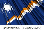 abstract flag of marshall... | Shutterstock . vector #1232992690