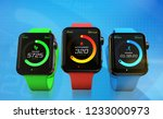 modern smartwatches with...