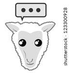 comic sheep   Shutterstock .eps vector #123300928