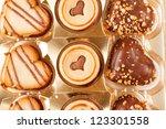heart cookies | Shutterstock . vector #123301558