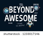 beyond awesome slogan graphic ... | Shutterstock .eps vector #1233017146